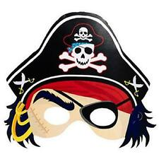 Pirate's Treasure Map Caribbean Kids Birthday Party Favor Paper Pirate Masks