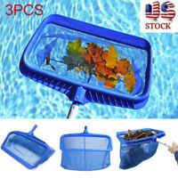 Heavy Duty3PCS Leaf Rake Mesh Frame Net Skimmer Cleaner Swimming Pool Spa Tool