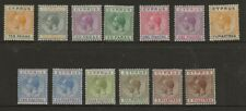 CYPRUS  SG 85/92 & 94/97a   1921/3 WATERMARK MULTIPLE SCRIPT SET TO 9pi   MINT