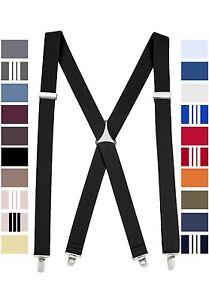 New Fashion Suspender Men's,  Teens, Elastic Adjustable Clip On X-Back
