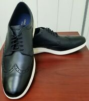 NEW Cole Haan Men's Grand Tour Wingtip Black Ivory Leather oxfords-size 13