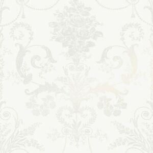 Laura ashley Josette White Wallpaper- 2Rolls