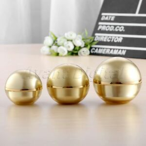 15g/30g/50g Gold Round Ball Shaped Acrylic Cosmetic Jar Makeup Cream Container