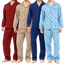 Mens Traditional PJ Pyjamas Sets Night Wear PJ's 2 Piece Pyjama Set Gents M-XXL