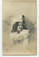 c 1910 Child Children CLOWN GIRL Pierrot photo postcard