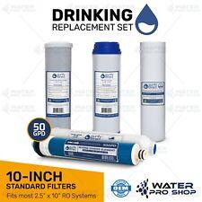 Reverse Osmosis Replacement Filter Set RO Cartridges 5 pcs w/ 50 GPD Membrane