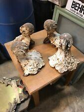 Set of three antique cast-iron huge eagle claw tub feet 8 inch H by 9 inch W
