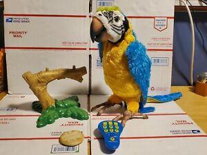 Hasbro FurReal Friends Squawkers McCaw Talking Parrot Remote Read Description