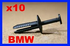 10 BMW Paso De Rueda Guardabarros Tapa coche plástico fijaciones Clip Presión