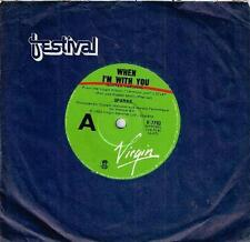 """SPARKS - WHEN I'M WITH YOU - 7"""" 45 VINYL RECORD - 1980"""