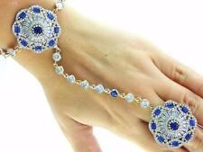 Newl 925 Sterling Silver Hand Chain Slave Boho Bracelet Ring Turkish Jewelry B57