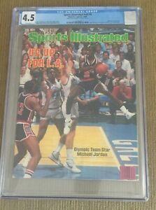 Michael Jordan July 23, 1984 Second Sports Illustrated NEWSSTAND CGC 4.5