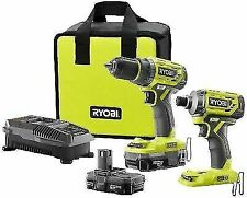 Ryobi P1834 18V Hex Brushless Cordless Impact Driver with Accessories