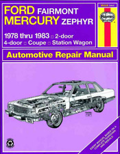 MANUALE Haynes FORD FAIRMONT MERCURY Zephyr 1978-1983 COUPE STATION WAGON Riparazione