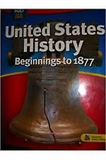 Holt Social Studies: United States History Beginnings to 1877, , Good Books