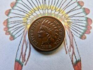 1882 Indian Head Cent  AU