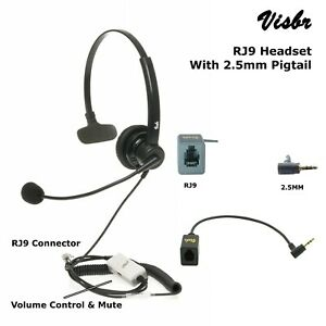 Office Phone headset, Noise Canceling Rotatable Microphone, Volume & Mute, New