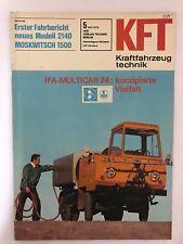Kraftfahrzeugtechnik KFT 05/1976 Multicar M24 Moskwitsch Mossi 1500 DDR Zeitung