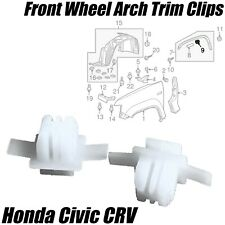 10x FRONT WHEEL ARCH CLIPS SURROUND EXTERIOR FRONT WING For HONDA CIVIC CR-V CRV