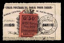 1870's FRANCE PARIS LOCAL PARCEL POST RECEIPT STAMP - USED - OGH - F/VF (E#9243)