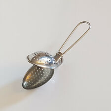 Vintage Kitchenalia English Made Hand-Held Tea Strainer - Collectors Piece