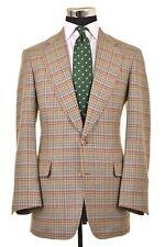 Paul Stuart Gray Brown Large Houndstooth Check TWEED Wool Sport Coat Jacket