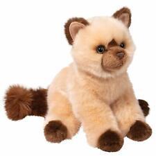 "Mitzy 9"" tall Himalayan Cat Stuffed Animal by Douglas Cuddle toy kitten grey"