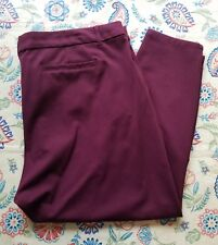 KUT FROM THE KLOTH SIZE22W WOMEN'S SKINNY FIT ANKLE LENGTH DRESS PANTS BURGUNDY
