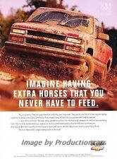 1996 Chevrolet Truck C/K 4x4  Original Advertisement Print Art Car Ad J806