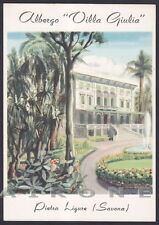 SAVONA PIETRA LIGURE 79 HOTEL ALBERGO VILLA GIULIA Cartolina