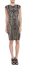ROBERTO CAVALLI ITALY New $1695 Leopard Print Stretch Dress Large /46