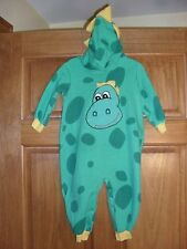 EUC toddler size 24 mo 2 yrs dinosaur costume cute warm halloween green yellow