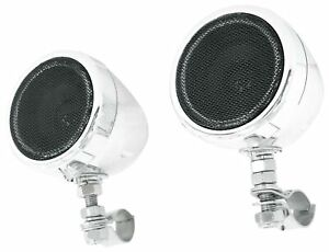 """Boss MC425BA 3"""" Chrome Powered Speakers w/Bluetooth For Motorcycle/ATV/Scooter"""