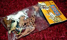 Plastique Zoo Set Animaux neuf dans sa boîte 70er Hong Kong/Piñata de très belle heinerle 6 pces