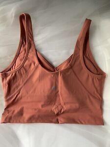 Lululemon Sports Bra Crop Top Size 8 Burnt Orange