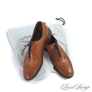 Allen Edmonds McAllister Whiskey Saddle Tan Brogued Wingtip Leather Shoes 9 D NR