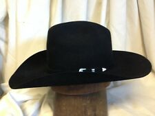 ffb5db065b55f Stetson 6X Beaver Black Silverton Mens Cattleman Cowboy Hat - Size 7   R  Oval