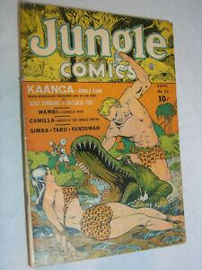 Jungle Comics #33 G+ GGA Headlights Bondage Kaanga Jungle Lord