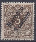 Dp Morocco 1 O 3 C On 3 Pf Crown/Eagle, Postmarked