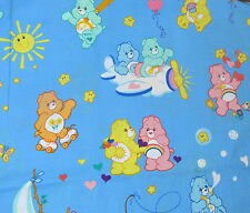 CareBears cotton fabric BLUE Care Bears blue scatter baby print 2004
