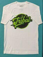 Tribal Gear Graffiti Logo Shirt Men's White M NWT Free Shipping!