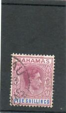 SG 174 BAHAMAS FIVE SHILLINGS USED  CAT £26