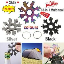 18In1 Snowflake Design Key Chain Hex Screwdriver Stainless Multi-Tool Portabl