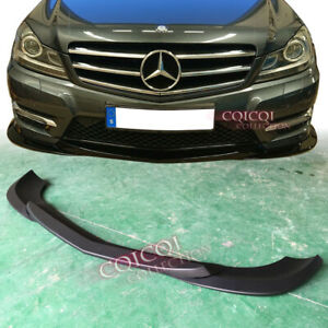 Gloss Black M-BENZ 12~14 W204 C-class C250 sedan GH type front lip spoiler 3PCS◎