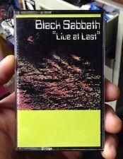 """BLACK SABBATH - """"LIVE AT LAST"""" - CASSETTE TAPE  Rare! Creative Sounds Lmt. 3205"""
