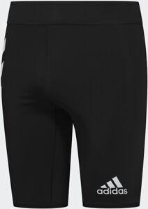 NWT adidas Men's Saturday Short Running Tights FT9972 Jogging Walking