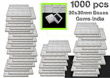 1000 pcs 3x3 cm/ 30 x 30mm Plastic gem/diamond Storage boxes wholesale free ship