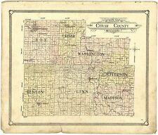 1908 atlas Cedar County Missouri plat maps old Genealogy Land Owner Dvd P127