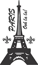 Eiffel Tower Vinyl Decal for your Wall Silhouette