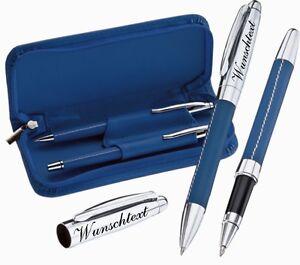 Kugelschreiber Schreibset mit Gravur Lance Rollerball Wunschtext  Gravur GKS09
